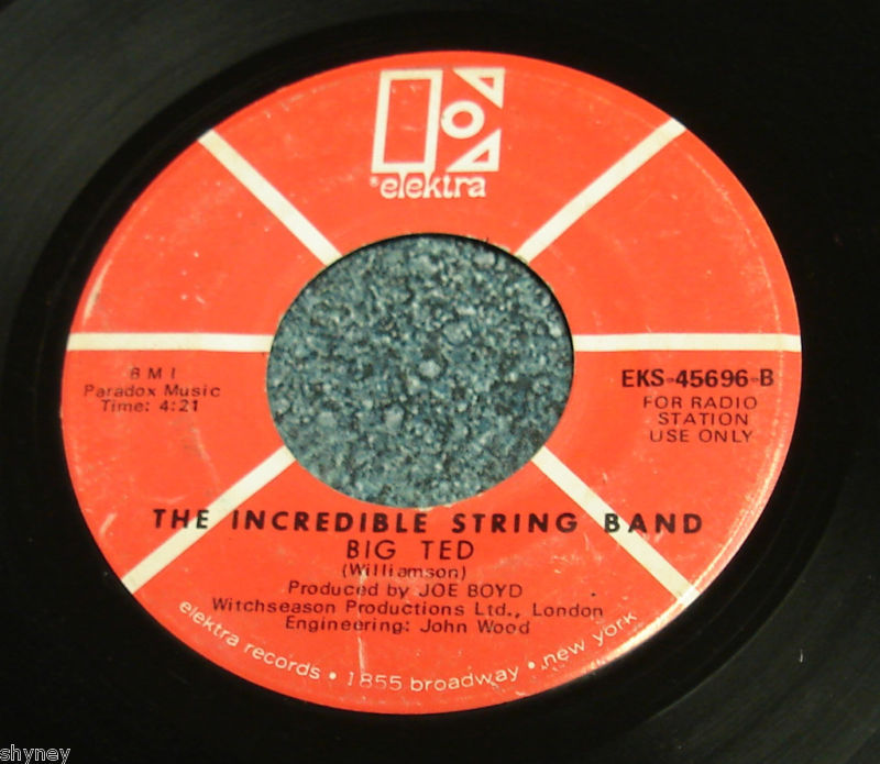 INCREDIBLE STRING BAND 1969 Promo 45 BIG TED / THIS MOMENT