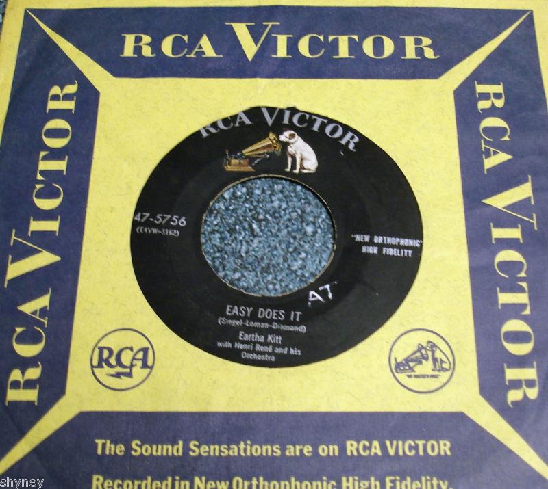 EARTHA KITT RCA 45 Easy Does It / Mink Shmink