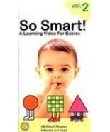So Smart!: Vol. 2 - All About Shapes 1998 VHS BABY 4 Educational Video F... - $5.87