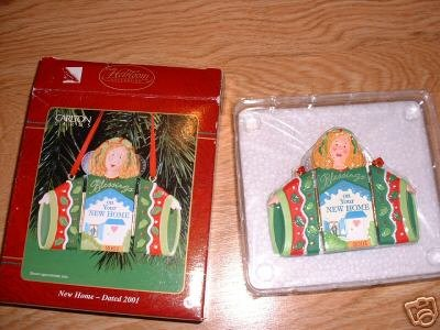 NEW HOME 2001 CARLTON CARDS ORNAMENT ANGEL BLESS NIP