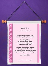 Love Is - Personalized Wall Hanging (186-1) - $18.99