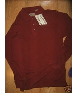 MEN TIMBERLINE COLORADO BURGUNDY LONGSLEEVE POLO XS NEW - $8.99
