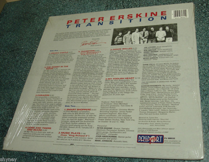 PETER ERSKINE New Still Sealed Passport LP TRANSITION