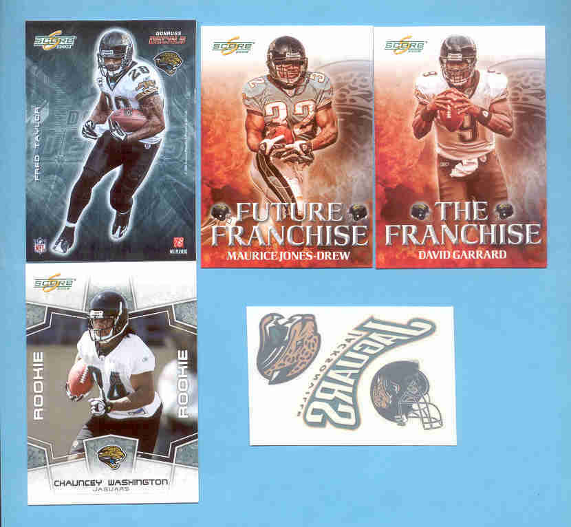 2008 Score Jacksonville Jaguars Master Football Team Set