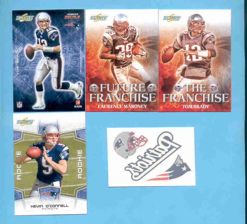2008 Score New England Patriots Master Football Set