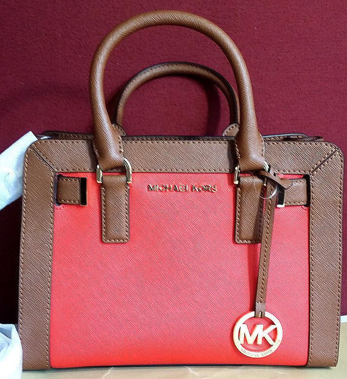 2a5aca2b8993 Michael Kors Dillon Small Leather Satchel Crossbody handbag NWT