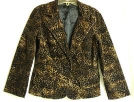 Leopard  velvety Jacket M/L  - $24.88