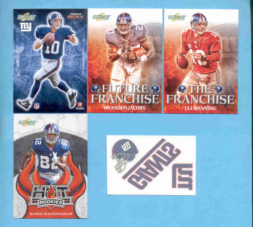 2008 Score New York Giants Master Football Set