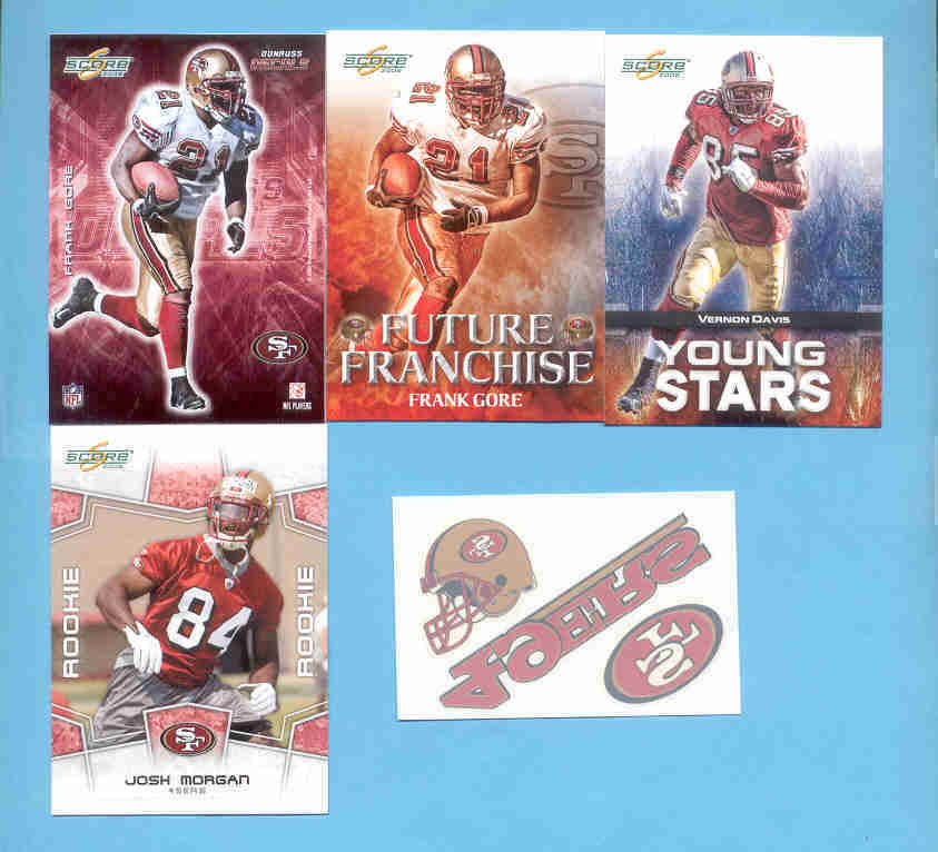 2008 Score San Francisco 49ers Master Football Team Set