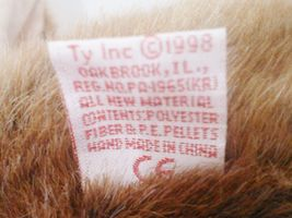 "1998 TY Beanie Buddies "" Stretch"" the Ostrich : PE Pellets : China Made {3152} image 5"