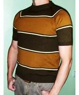 Cool Men's 60's 70's Vintage Mod Stripey Shirt ... - $22.00