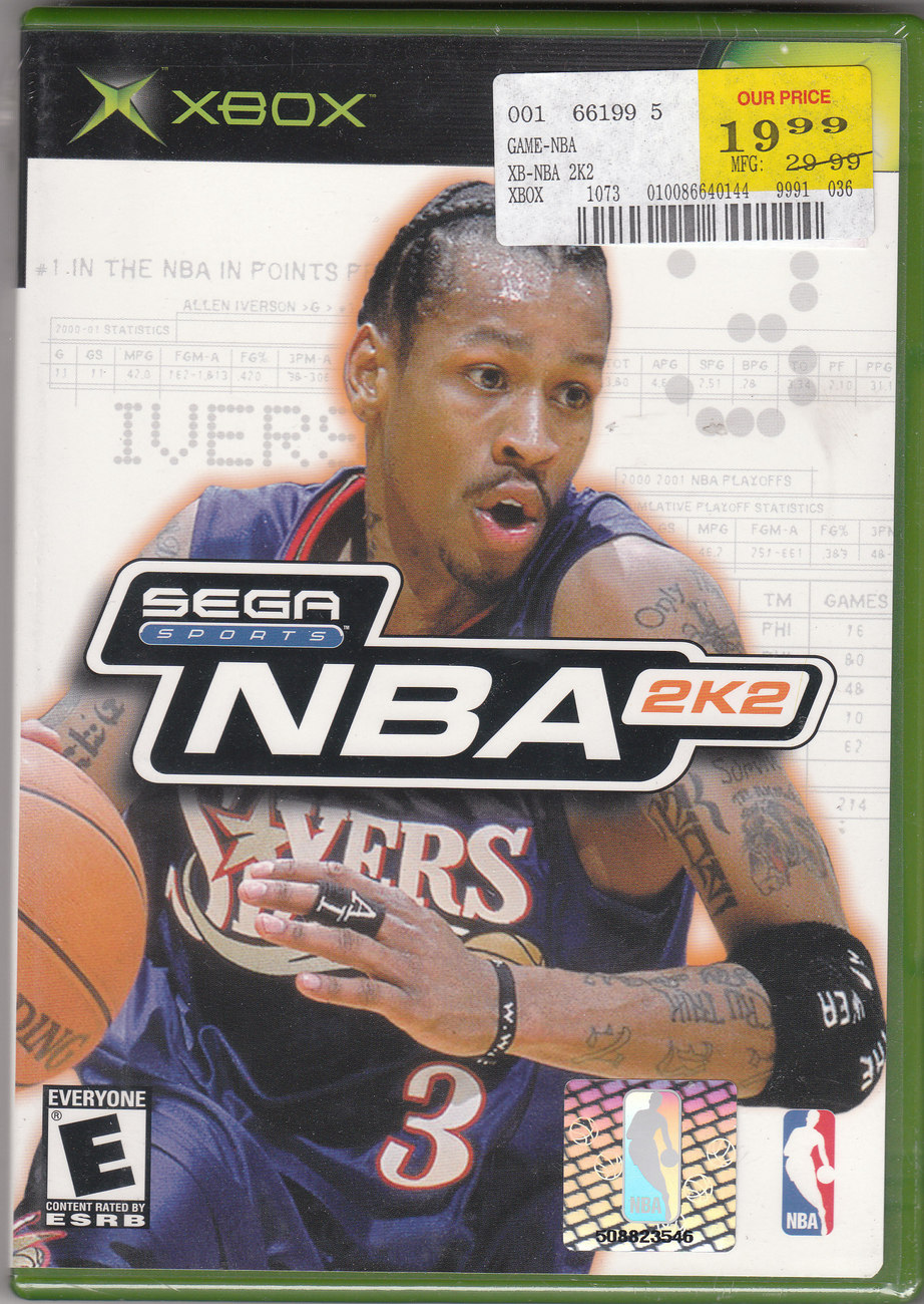 XBOX-NBA 2K2 Video Game