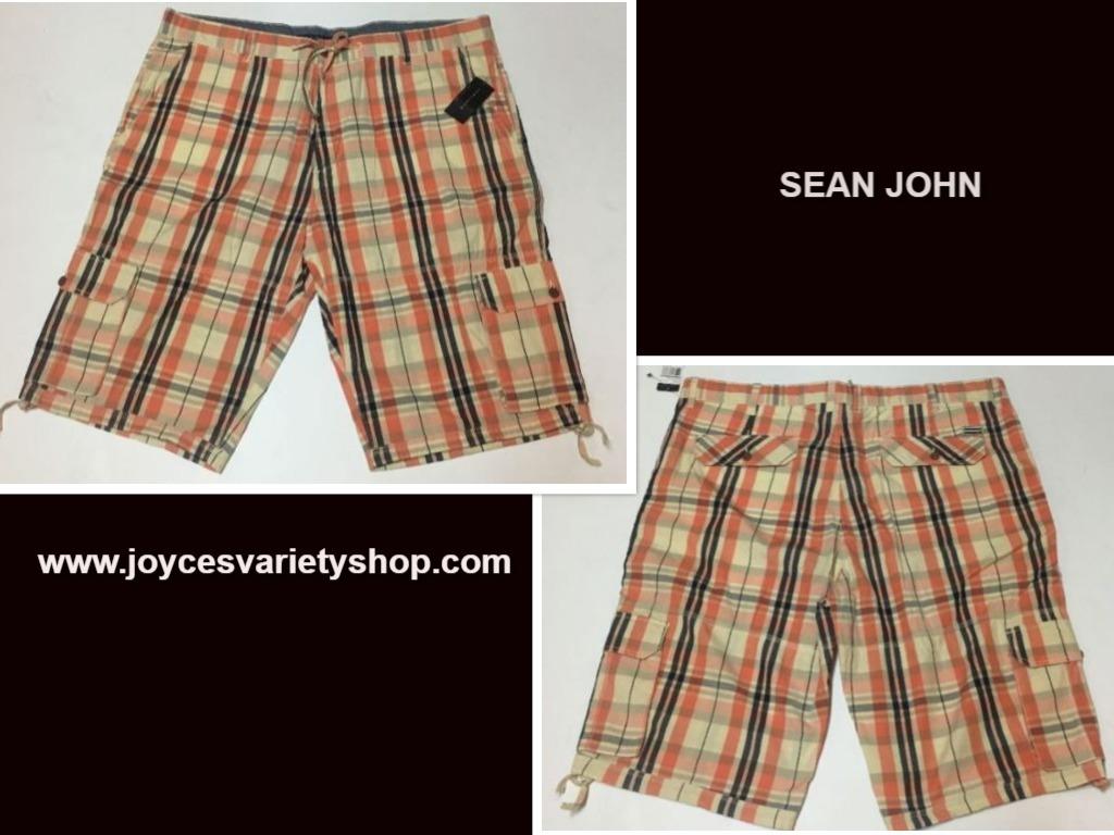 Sean john plaid shorts web collage