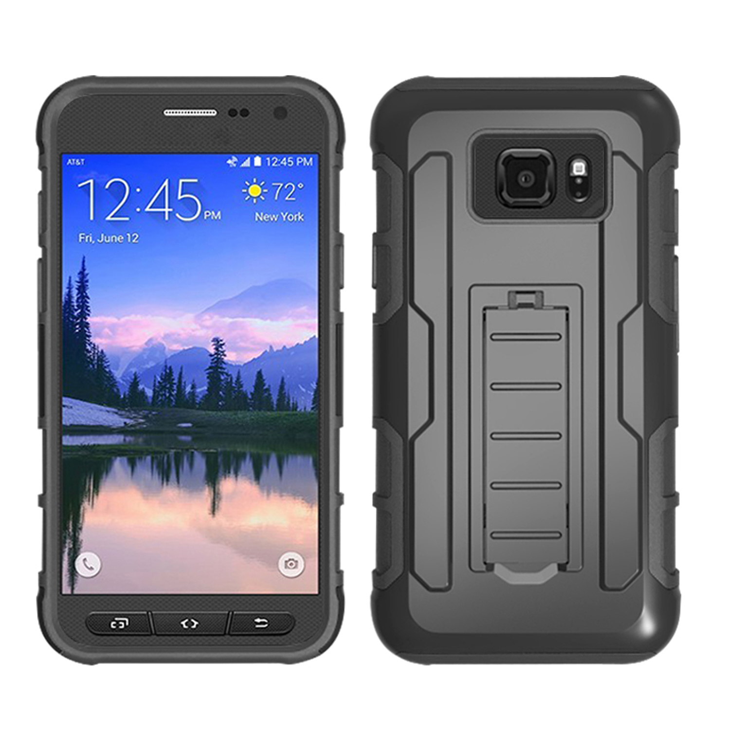 Armor Rugged Holster Belt Clip Cover Hard Case For Samsung Galaxy S7 Active G891