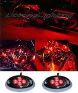 OCTANE LIGHTING 2Pc Red Led Chrome Modules Motorcycle Chopper Frame Neon... - $6.88