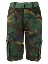 SW Men's US Force Military Army Multi Pocket Camouflage Cargo Shorts with Belt image 2
