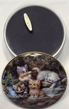 1996 Ardleigh-Elliott Music Box By the Lily Pond Kitten Expedition JURGE... - $39.19