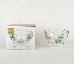 """Mikasa Holiday Evergreen Emerald Footed Bowl 6""""  WY157/716 - $18.33"""