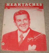 Heartaches Sheet Music - 1942 - Eddy Howard - $7.99