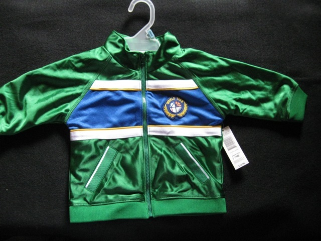 Jacket And Pants Sports Outfit-Boys- Green 18 Mos.