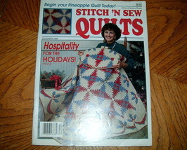 Stitch n Sew Quilts December 1989 Vol 9 No 6 - $3.00