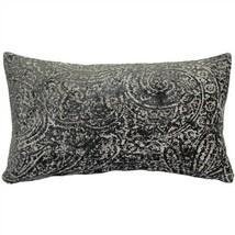 Pillow Decor - Visconti Gray Chenille Throw Pillow 12x20 (DC1-0009-02-92) - $59.95