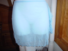 Playboy Sheer Swim Sarong One/Size Light Blue NWT - $18.99