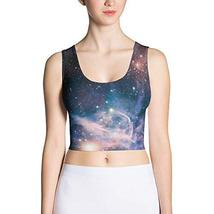 Carina Nebula Crop top Tank top - All Over Outer Space Galaxy Print (X-Large) - $32.62