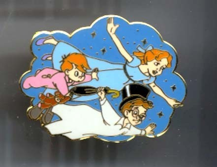 Disney Peter Pan Wendy and Friends flying pin/pins