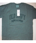 Old Navy Boys Green Cotton Tee Shirt Size Small... - $6.00