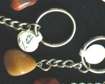 Primary image for Tumbled Tan Jasper Gemstone Keychain