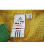 Athletic Pants Large Adidas Yellow with Green and White stripe TF095/ALS - $12.93