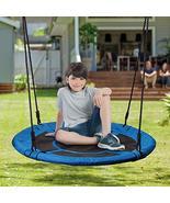"Outdoor 40"" Saucer Chair Tree Swing Waterproof Hammock Seat with 2 Carab - $129.00"