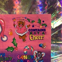 LOT S482 S483 MINT Lisa Frank Christmas Silly Sender Stickers FROM SANTA image 2