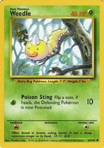 Weedle Common Mint Condition Base Set Pokemon Card 69/102 - $1.50