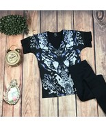 Alexander McQueen McQ Women's Blouse Kaleidoscope Beetle Print T-Shirt L... - $123.75