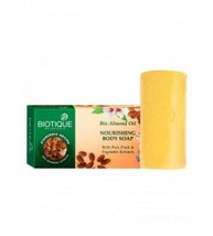 Biotique Bio Almond Nourishing Body Soap With Pure Fruit & Vegetable Ext... - $6.55+