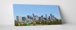 """Denver Downtown Skyline Panoramic Gallery Wrapped Canvas Print 45""""x20"""", 30""""x16"""" - $52.66+"""