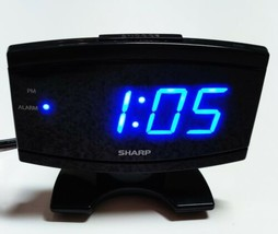 SHARP Alarm Clock Snooze Bright Blue Light Digital Display Loud Model SPC106  - $12.82