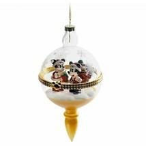 Disney Parks Santa Mickey and Minnie Mouse Glass Droplet Christmas Ornam... - $34.60