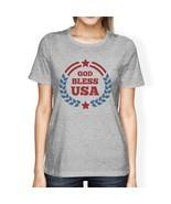 God Bless USA American Flag Shirt Womens Grey 4th Of July T Shirt - $14.99