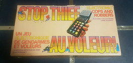 STOP THIEF Electronic Cops & Robbers Board Game Vintage 1979 English Fre... - $33.98