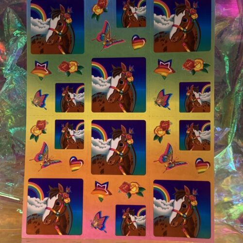 Lisa Frank Complete Sticker Sheet S247Rainbow Chaser Square Style Ooh Lala