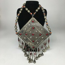 "496.4g, 30"" Turkmen Necklace Huge Vintage Boho Statement gypsy style Bib, TN701 - $138.60"