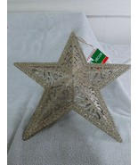 Glittery Gold Holiday Star Wall Decor By Christmas House - New - $9.75