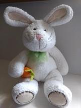 Koala Baby Bunny Rabbit Carrot Plush Lovey White Tan Bow Easter Stitches Floppy - $20.15