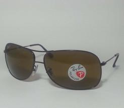 Ray-Ban Polarized Brown men sunglasses RB3267 Rectangular Aviator Style ... - $145.50