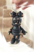 NWT Coach F30955 Disney Minnie Mouse Floral Doll Leather Charm Navy Limi... - $98.95