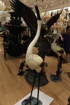 """Crane Fountain Head Down Fountain Bronze Statue -  Size: 23""""L x 17""""W x 5... - $3,500.00"""