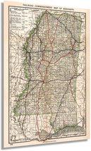 1888 Wall Map of Mississippi - Mississippi Vintage Map - Mississippi Wall Art -  - $34.99+